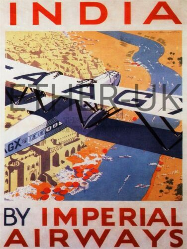 KLM Retro Vintage Aviation Posters in A4 Size PAN AM Virgin British Airways