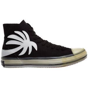 Palm Angels high-top sneakers men palm tree PMIA048R21LEA0021001 Black Cotone