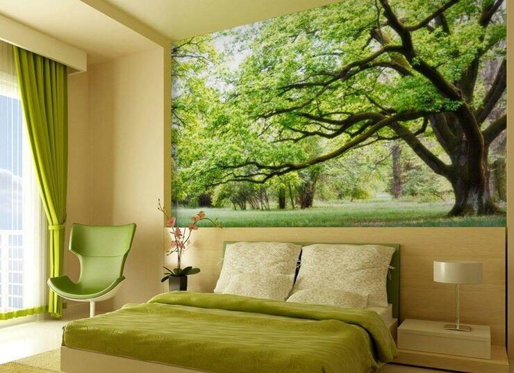 3D Hoher Grüner Baum 74 Tapete Wandgemälde Tapete Tapeten Bild Familie DE Summer