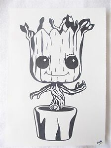 A4 Art Marker Pen Sketch Drawing Funko Pop Vinyl Baby Groot Ebay