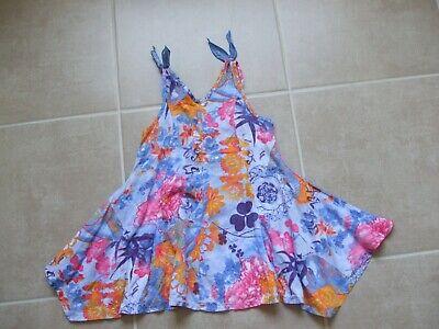 Adorable Robe Asymetrique Clayeux 2 Ans Bleu Imprimee Fleurs Aroma Fragrante