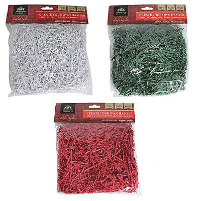 Christmas Hamper Kit Filling Green 42g Bag Shredded Wood Wool