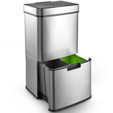 VonHaus Kitchen Recycling Bin 3 Compartment Hands-Free Automatic Sensor Bin