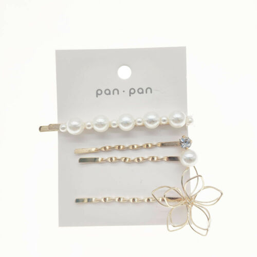 Pearl Flower Concise Crystal Hair Pins Clips Bridesmaid Side Comb Bridal Jewelry