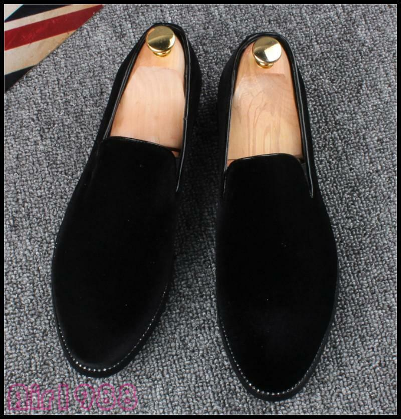 Mens New Pull On Loafers shoes Slip On Low Heel Driving Moccasin shoes New Pumps