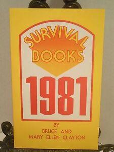 SURVIVAL BOOKS 1981 Titles of Homesteading Wilderness Food Storage Health Books