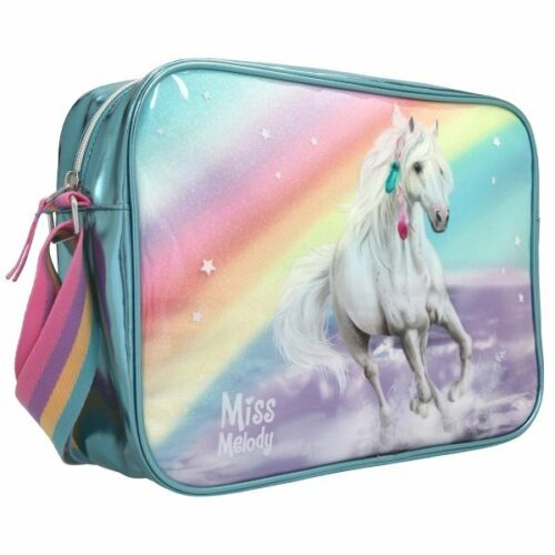 Depesche Miss Melody cheval épaule Sac Messenger Glitter rainbow turquoise A4
