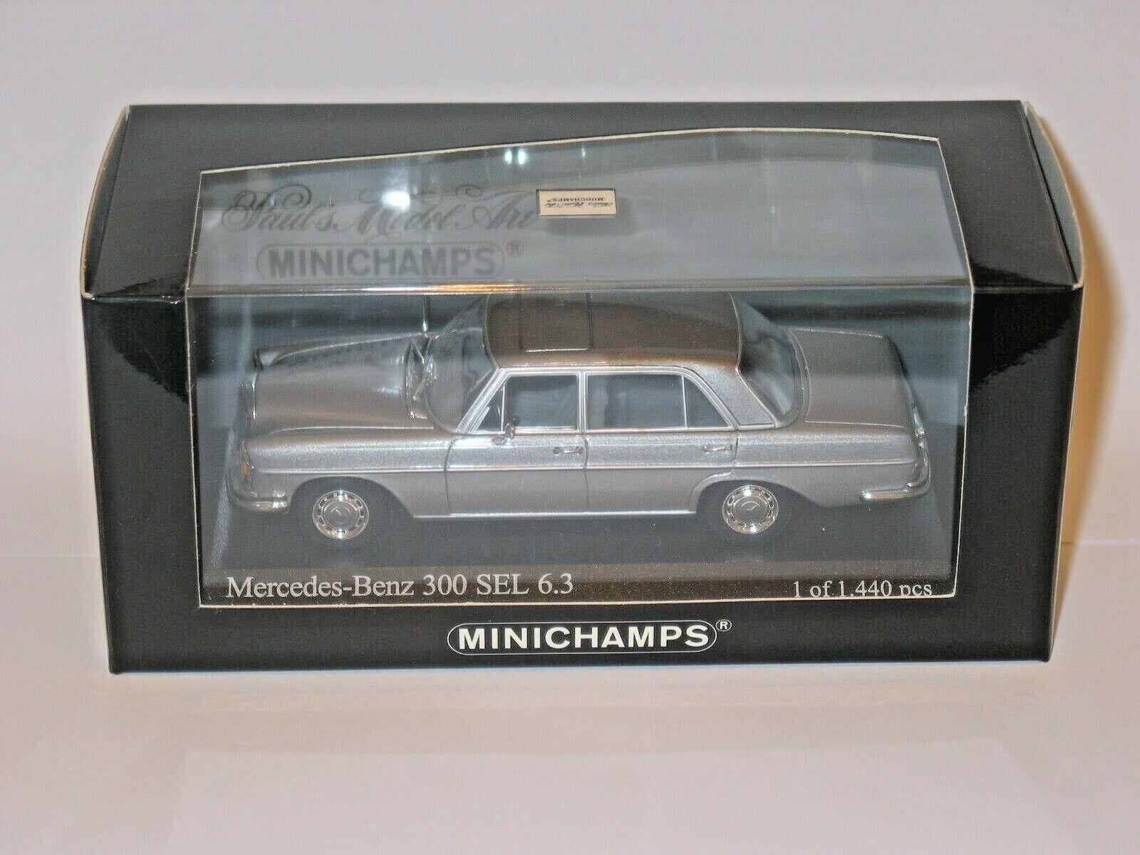 WOW Mercedes  300 SEL 6.3 W108  109 grau METALLIC RARE 1 43 Minichamps 430039105