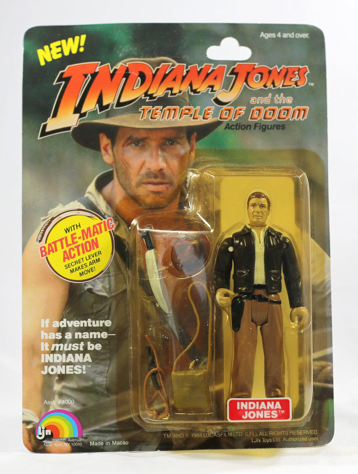 Vintage Indiana Jones Temple of Doom MOC TOD LJN Near CASE FRESH STUNNING