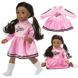 2c41c7b342d9 Details about Cute Pink cheerleading Uniform Clothes Accessory For 18 inch  American Girl Doll