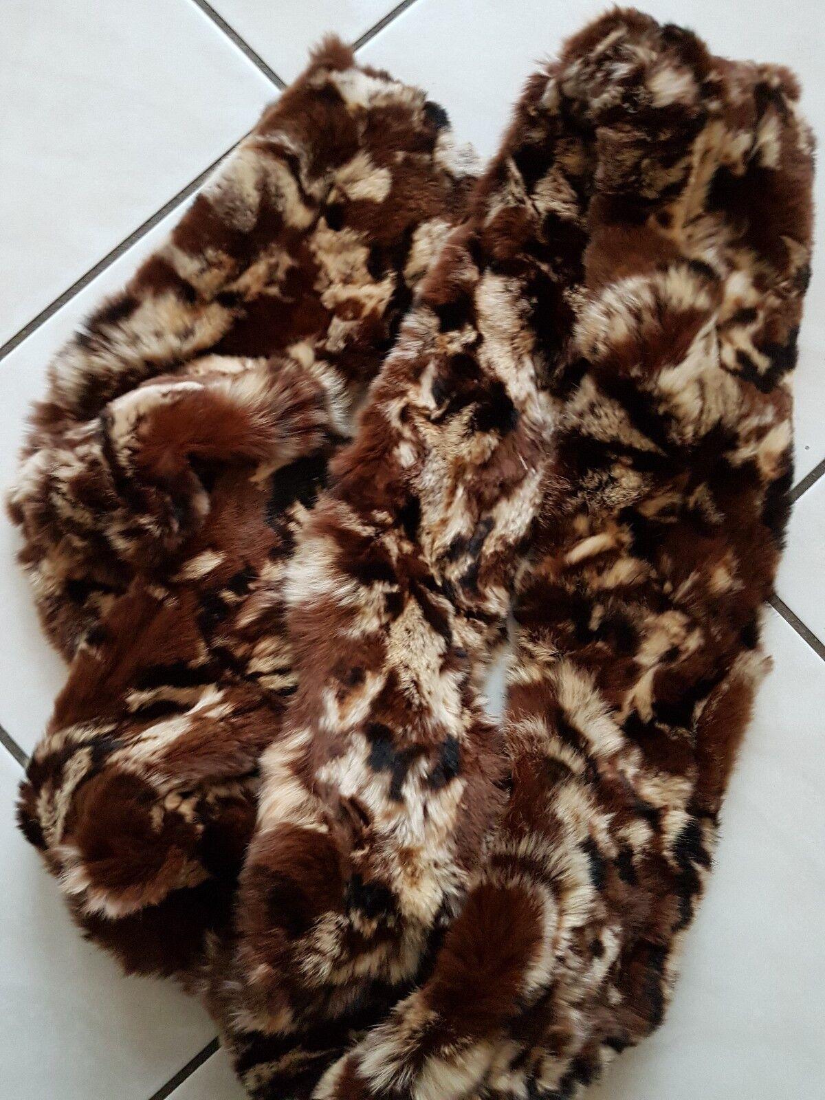 Boutique Ware Echt Fell Pelz Pelz Pelz Rabbit Kragen fest Braun neu nie getragen animal | Erste Kunden Eine Vollständige Palette Von Spezifikationen  | Haltbarer Service  | Tadellos  3a32d9