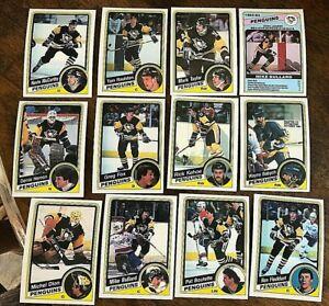 1984-85-O-Pee-Chee-PITTSBURGH-PENGUINS-12-card-team-set-lot