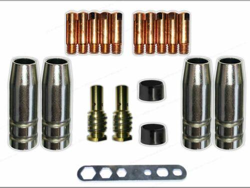 TBI 140 Gasdüse Düsenstock MIG//MAG 0,8 Stromdüse Verschleißteile MB14