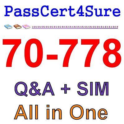 70-778 BEST EXAM PRACTICE MATERIAL  QA PDF/&Simulator