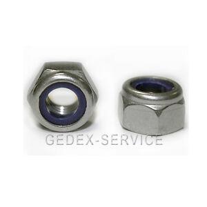 hohe Form 25 Stopmuttern M4 DIN 982 Edelstahl A2 Polystop hex lock nuts