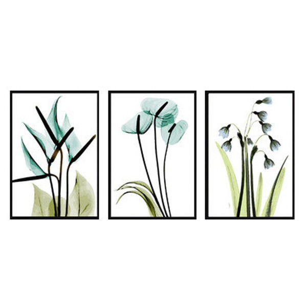Malen nach Zahlen Triptychon Pflanzen 120x50 cm Leinwand Leinwand Leinwand 052e28
