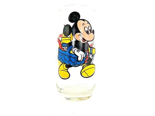Vintage Disney Pepsi Collector Glass Mickey Mouse Goofy Pluto Free Shipping