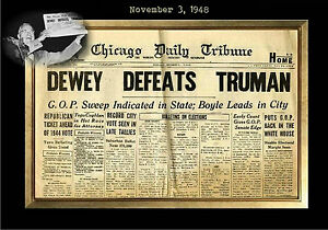 Image Is Loading MAGNET Vintage NEWSPAPER FRONT PAGE Dewey Beats Truman
