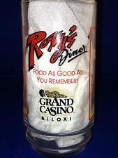 ROXIE'S DINER GRAND CASINO BILOXI MS COKE COCA COLA 16 Z ADVERTISING GLASS BEACH