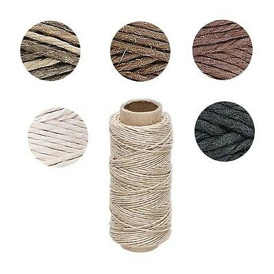 100 Feet Thin 0.5mm Polished Smooth Hemp Cording Thread with 10 Pound Test