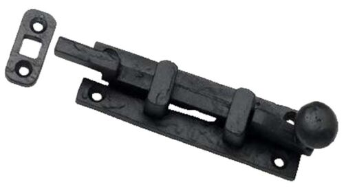 """AB199 3-1//2/"""" Cranked Black Cast Iron Bolt Stable French Door"""