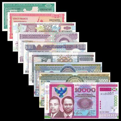 UNC Burundi 10 Francs Lot 5 PCS P-33 2007
