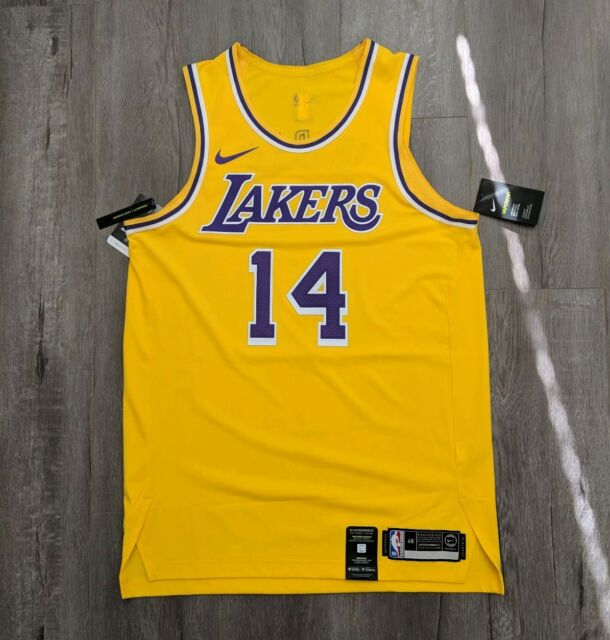 check out 136f1 e55bb Details about LEBRON JAMES Lakers Authentic Nike Jersey 2019 - Large 48  Kobe Kuzma
