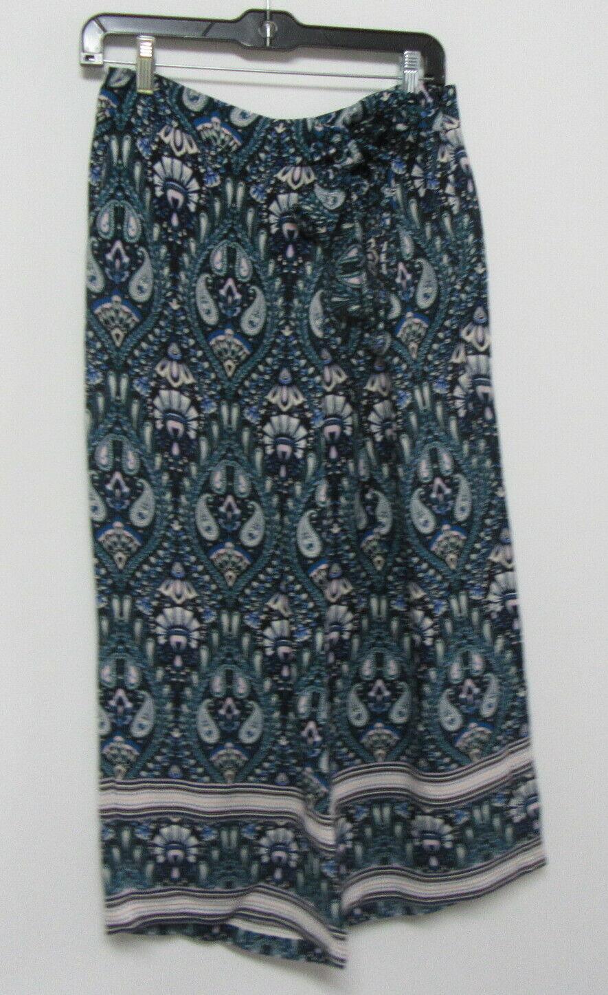 ELLA MOSS Turquoise Printed Gaucho Pants Size Sma… - image 2