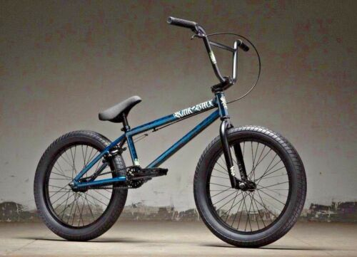 """2019 Kink Curb 20/"""" BMX Bike Gloss Smoked Stang Teal Complete BMX Bicycle"""