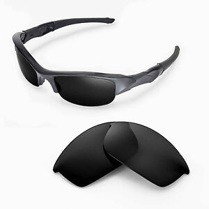 8654a8ba0b Image is loading New-Walleva-Black-Replacement-Lenses-For-Oakley-Flak-