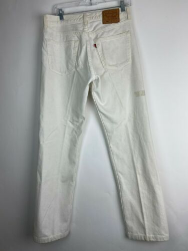 VTG Levi's Men's 501 White Denim Straight Leg Butt