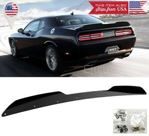 For-15-20-Dodge-Challenger-Black-Rear-Decklid-Spoiler-Gurney-Flap-Wickerbill