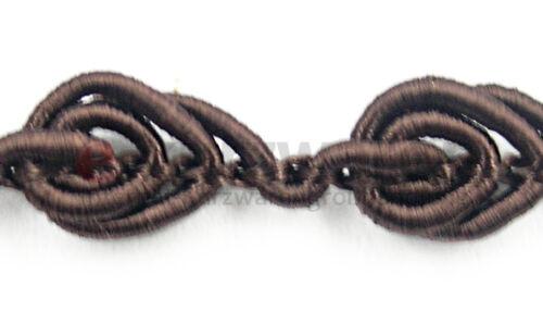 5m 50m x 8mm Breite Schmuckband Dekor Nähen Farbvielfalt Posamentenborte 1m