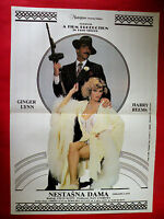 TRASHY LADY 1985 GINGER LYNN AMBER LYNN CARA LOTT RARE SEXY EXYU MOVIE POSTER