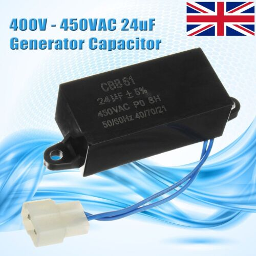 24uF 450V AC Generator Capacitor CBB61 For Brushless Gas & Diesel Generators