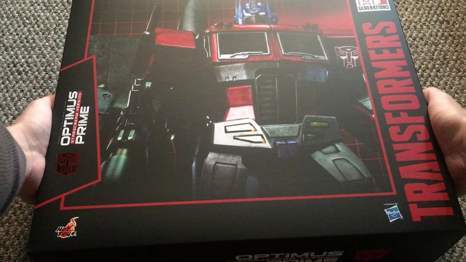 SALE Sideshow Hot Toys Optimus Prime Starscream Version Transformer Figure TF001