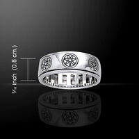 Elven Star .925 Sterling Silver Spinner Band Ring By Peter Stone
