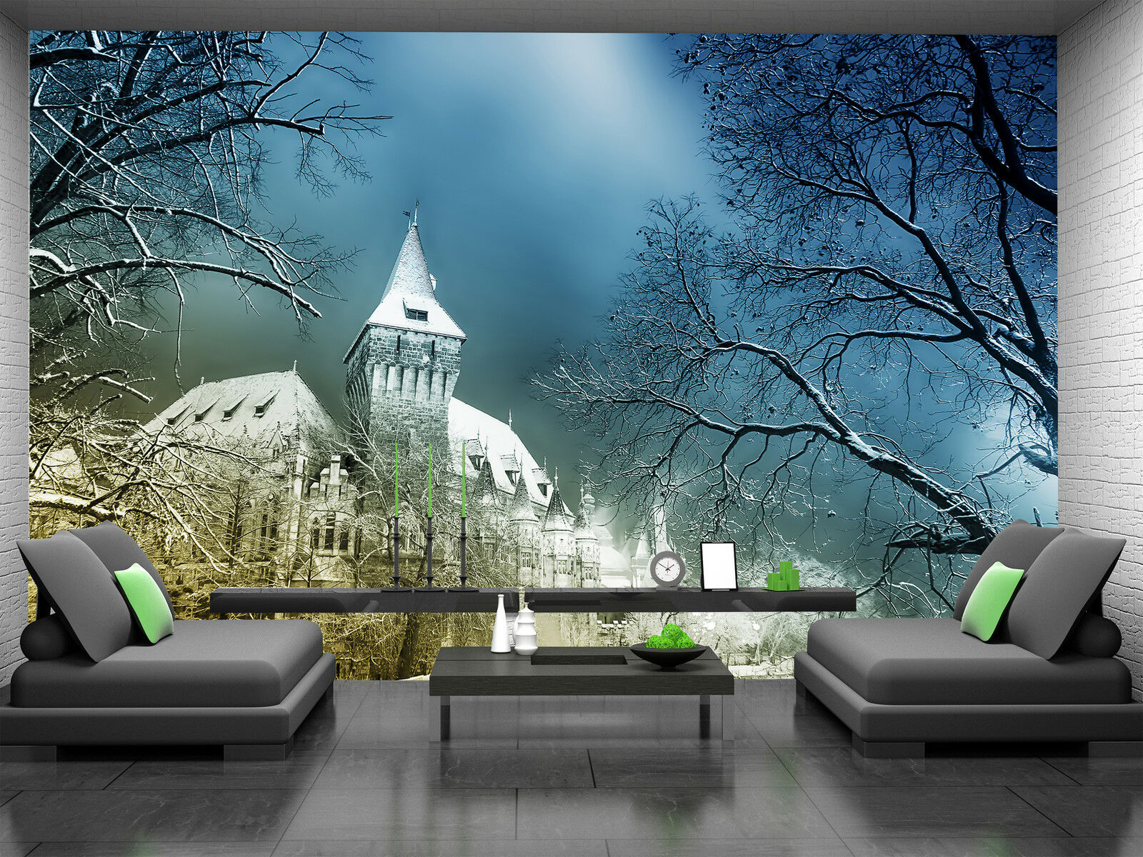 Fairy-tale Castle at Night Wall Mural Photo Wallpaper GIANT DECOR Paper Poster