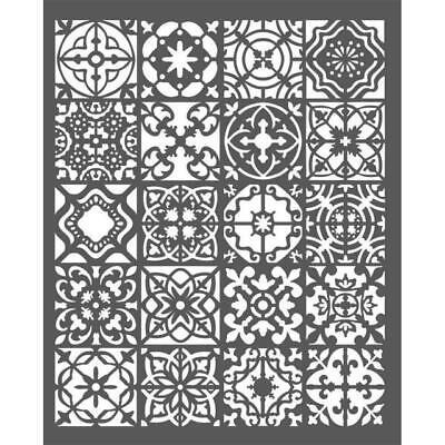 Schablone-Mixed Media-STAMPERIA-12cm x 25cm-Tulip Decoration-KSTDL26