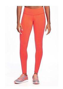 Old-Navy-Fleece-Skinny-Pants-Size-L-Girls-Active-Go-Warm-Neon-Orange-Sports-Wear