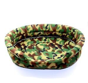 Letto-cuscino-Cuccia-Branda-per-cane-gatto-lettino-in-Pile-Camouflage-Mimetico