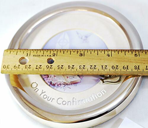 Details about  /5.5in Round silver On your confirmation Photo Frame For rememberance gift