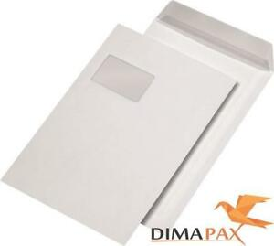 1000-Bolsas-de-Envio-Din-C4-229-X324-Adhesiva-Sobres-con-Ventana-Blanco