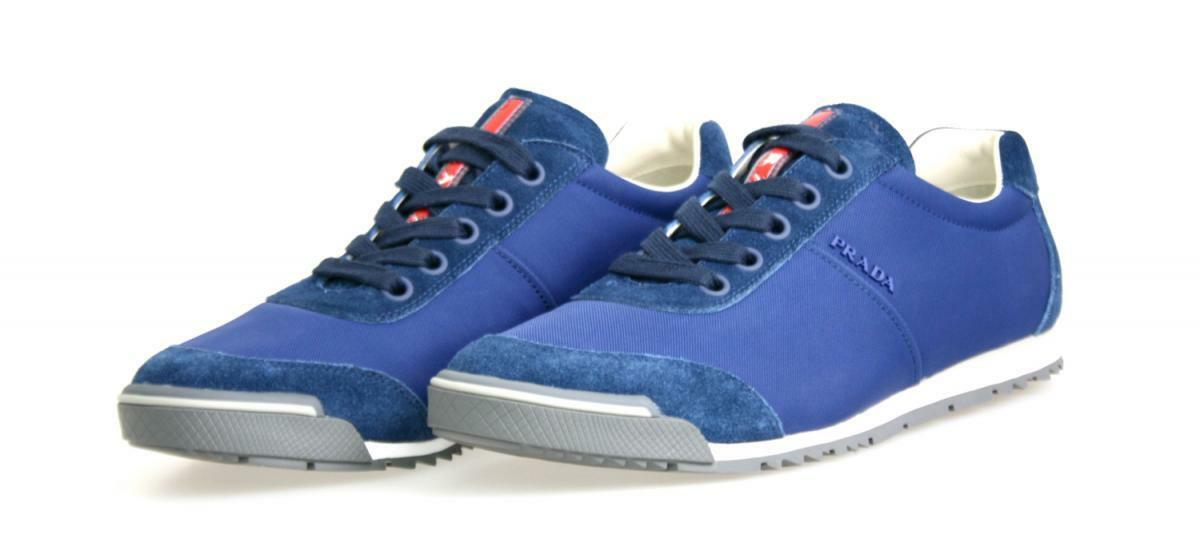 AUTHENTIC LUXURY PRADA SNEAKERS SHOES 4E2834 blueE NEW US 11