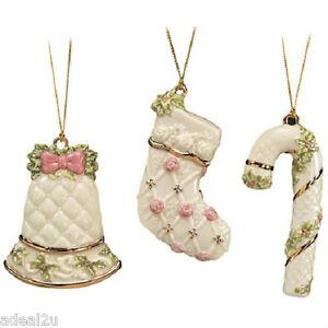 Lenox Victorian Ornaments Set of 3 Brand New in Box $59