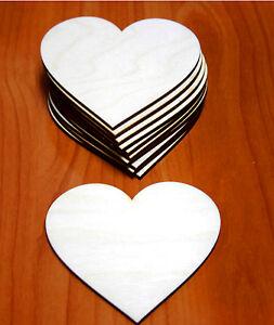 10 Stk Holzherzen 9cm Herzen aus Holz Dekoherzen Hochzeitsdeko Decoupage