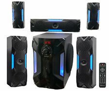 """Rockville HTS56 1000 W 5.1 canales sistema de cine en casa/Bluetooth/USB+8"""" Subwoofer"""