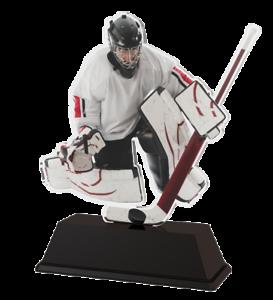 Ice Hockey Goalie Trophy Cut To Shape Acrylic Free Engraving 100mm