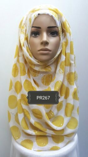 Hijab print head scarf maxi chiffon jersey lycra crimp cotton viscose silk PR267