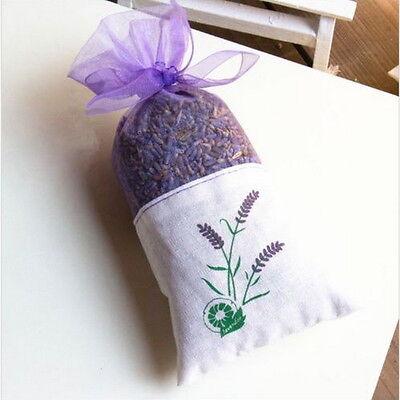 Dried  Lavender Flower Sachet Bags Fragrance Wardrobe Purple Organza Bags ER